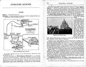 Paris Gal. Lafayette Sacre-cœur 1925 Guide (10 P) Buttes-chaumont Bibl Nationale Hrbzfqvg-08001816-269498420