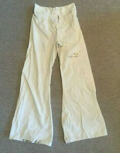 WWII-US-Navy-WHITE-Trousers-Pants-Bell-Bottom-24x29-SERVICE-CENTER-NAVAL-TAILORS