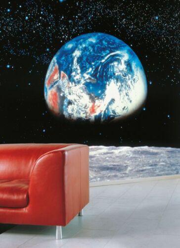 Papier Peint Photo papier peint TERRE LUNE Cosmos Home Room Decor Art 388x27cm géant!
