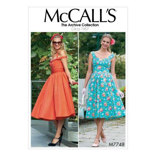 1957-Archives Collektion-jupon Mccalls motifs de coupe m7748-Robe-env
