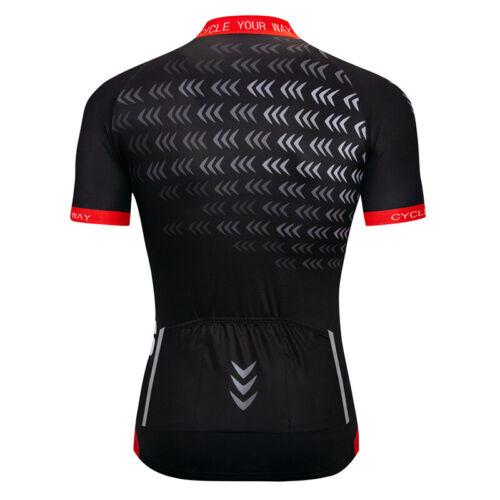Mens Bike Cycling Jersey Shirt Maillot Cyclism Sports Team Riding Short Jerseys