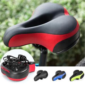 New Extra Wide Comfort Saddle Bicycle Seat Pad Soft Cushion MTB Road Bike Sadd