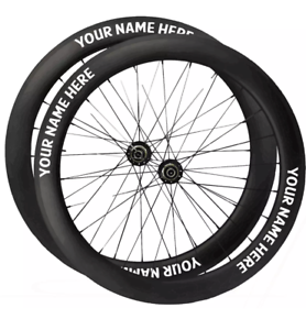 Wunschaufkleber Wunschname Felgen Aufkleber Fahrrad MTB Aufkleber Set