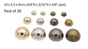 """Pkg of 20-10 x 5.5mm MUSHROOM Studs Crafts 1//2/"""" Bend Legs 3//8/"""" x 3//16/"""" MB10"""