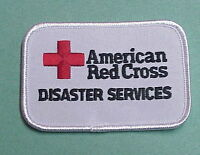 American Red Cross Disaster Services ( White ) Red Cross Patch Free Shipping