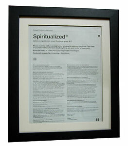 SPIRITUALIZED-Gentlemen-POSTER-AD-RARE-ORIGINAL-1997-FRAMED-FAST-GLOBAL-SHIP