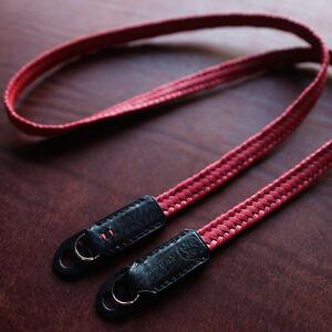 Camera-strap-Waxed-cotton-neck-strap-Arte-di-mano