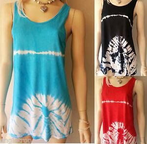 Boho Hippie Beach Cover Dress Tie Dye Balinese Art To Wear Orange S-1X SC173