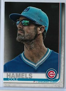 2019-Topps-Series-2-Baseball-Short-Print-Variation-Cole-Hamels-540-Chicago-Cubs