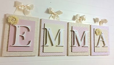 Girls letters Hanging Wall Letters Nursery Letters Baby Girl Wall Letters