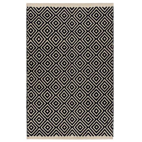 Black Diamond tejer algodón Telar Manual Alfombra Hecho a mano en la India