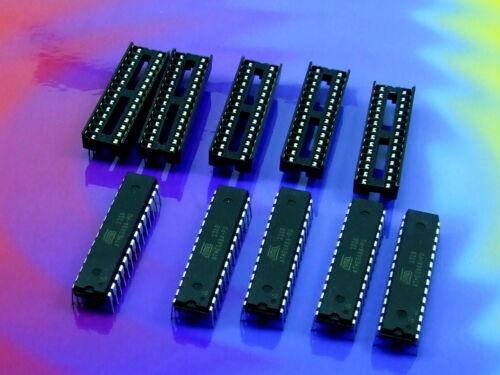 Stk.5 x ATMEGA8A-PU  mit//ohne Sockel//Socket DIP28 Mikrocontroller MCU