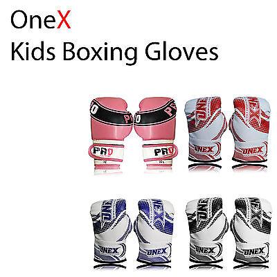 2oz 4oz 6oz Bambini Guantoni Da Boxe Arti Marziali MMA PUNCH BAG KARATE Mitt MUAY THAI