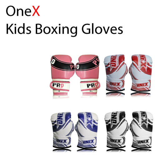 2oz kids boxing gloves, Bag sparring mma training kick boxing Mitt muay thai R1