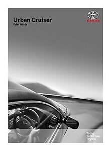 genuine toyota urban cruiser owners manual ebay rh ebay co uk Toyota Urban Utility Toyota Hilux