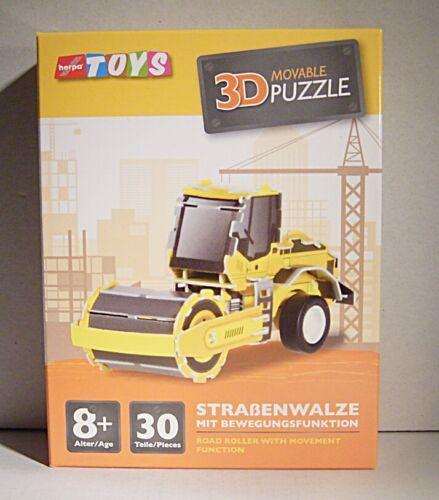 """/"""" 06 033 Herpa Toys 3d-Puzzle steckfahrzeug /""""Routes Rouleau 30 Pièces"""