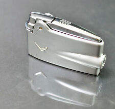 Accendino lighter Ronson PREMIER VARAFLAME carrello acciaio cromo satinato con V