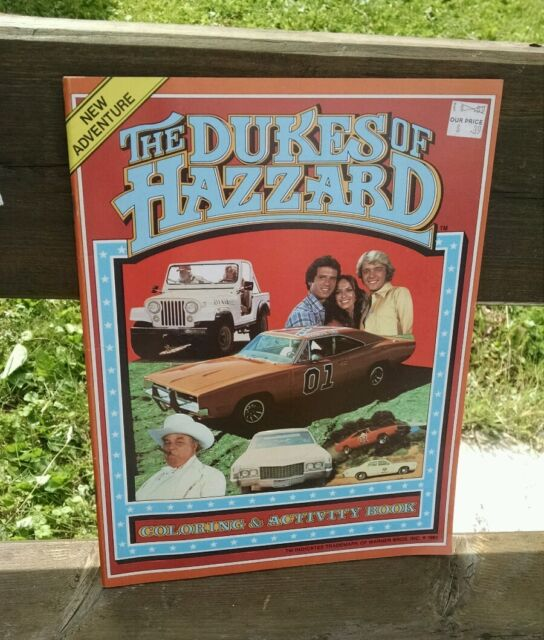 Dukes of Hazzard Coloring & Activity Book General Lee Vintage 1981 ...
