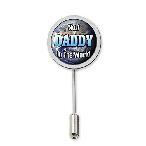 No.1 Daddy In The World Domed Stick Pin Tie Pin Badge With Protector Gift C174