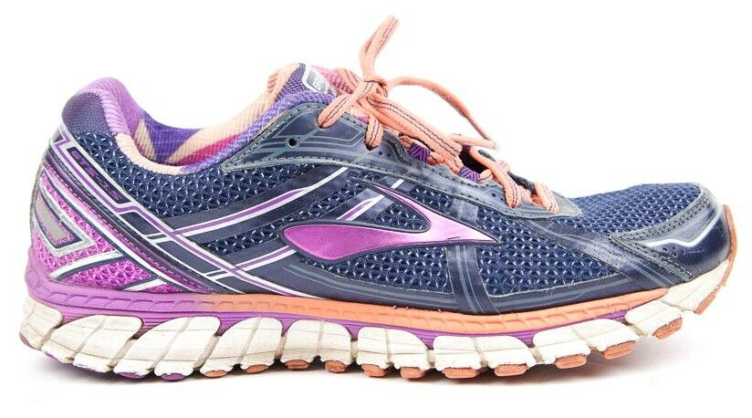 Brooks GTS 1201741B458 Women Adrennaline GTS 15 Navy Purple orange - Size 10