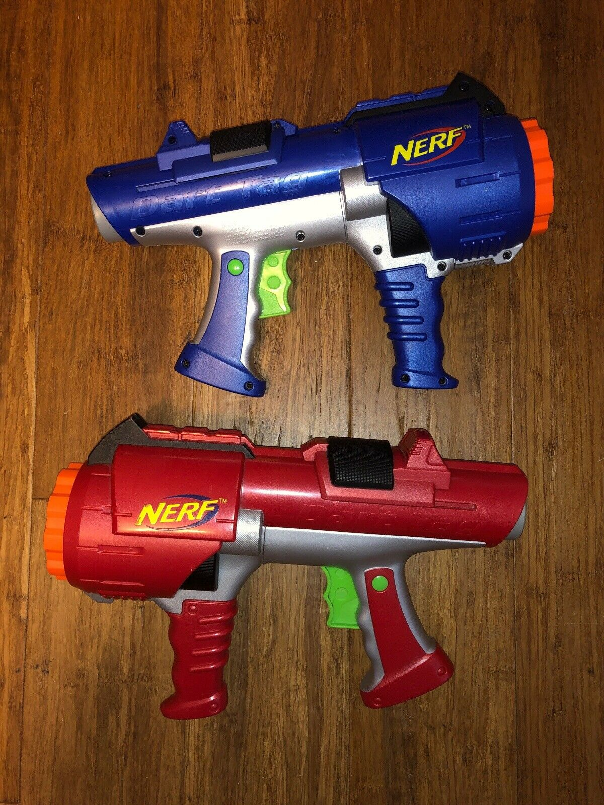 Nerf Dart Tag Gun 10 10 10 Shot Barrel 2005 Red 935784