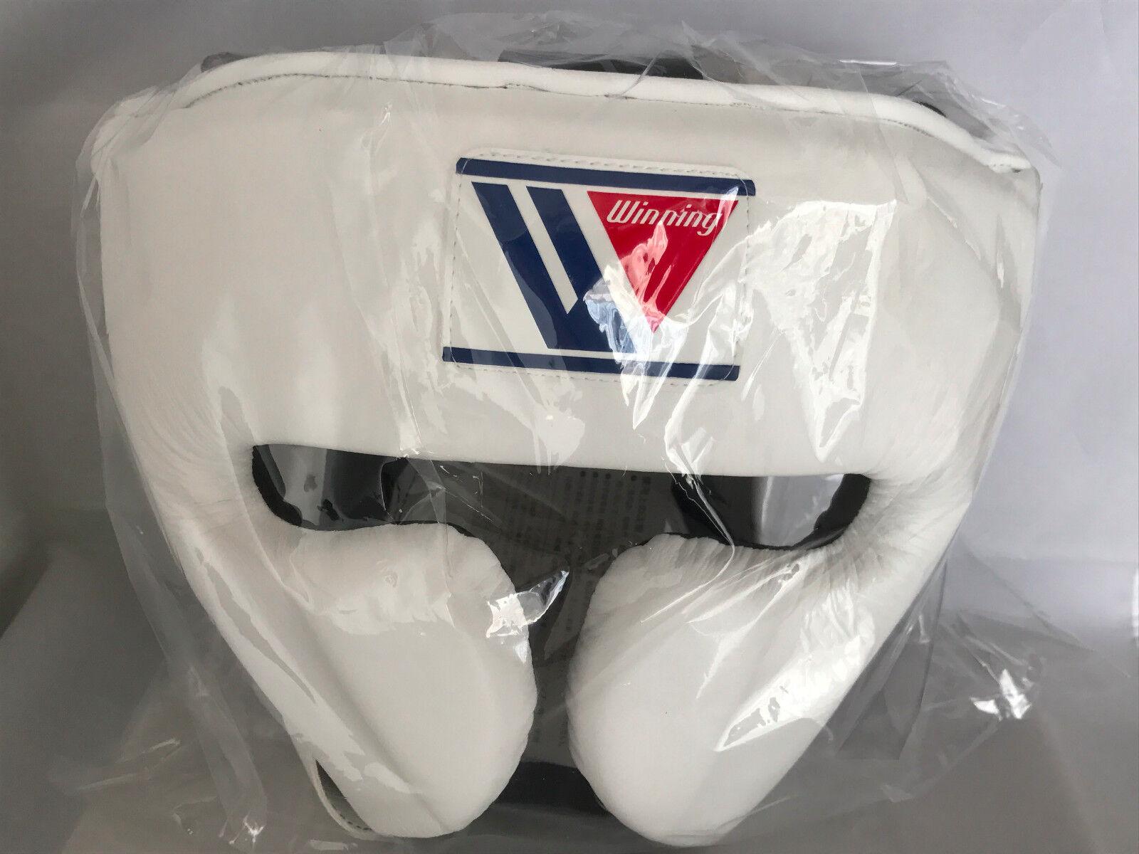 WINNING Boxing Head Gear FG-2900 Training White Medium Size Made in Japan NEW