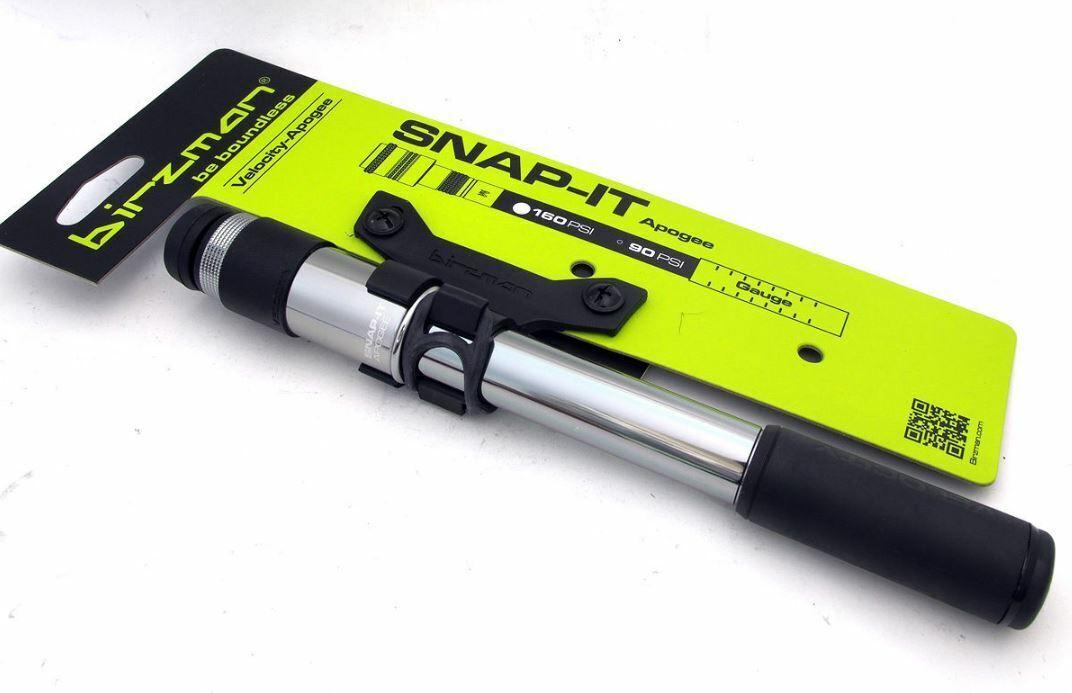 Birzman Velocity-Apogee RG RB Aluminio Bomba Mini con calibre Snap que 160psi Plata