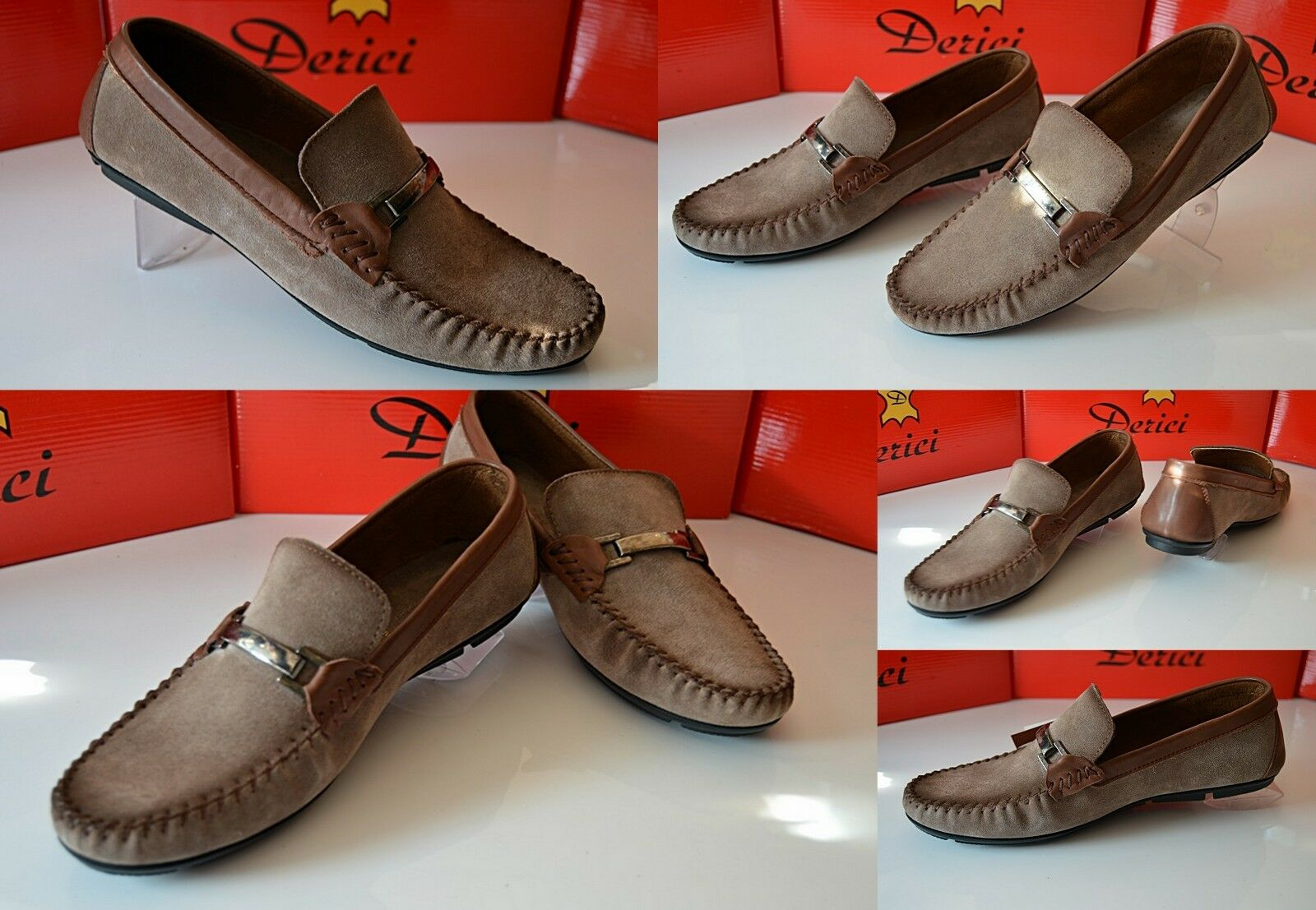 Uomo per il tempo libero Italy Pelle Design Fashion in Vera Pelle Italy Scarpe Mocassini Slipper Loafer 636567