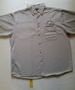 Harley-Davidson-Motorcycle-NHRA-Performance-Parts-Button-Up-Shirt-XL
