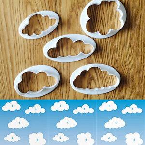 5pcs-Plastic-Cloud-Shape-Modeling-Cutter-Mold-Cake-Fondant-Sugar-Crafts-Decor