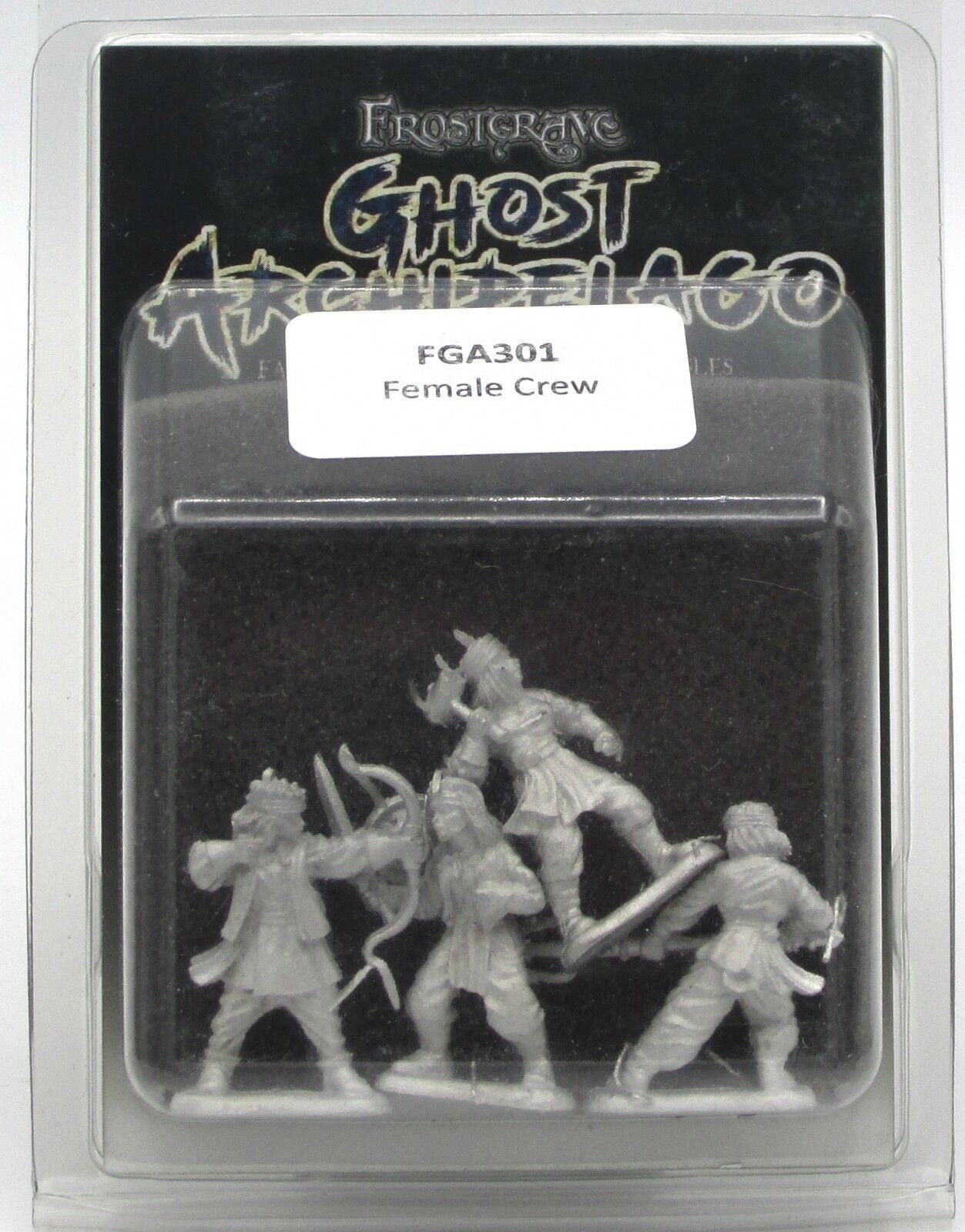 Frostgrave Ghost Archipelago Crewmen 28mm single sprue of 5