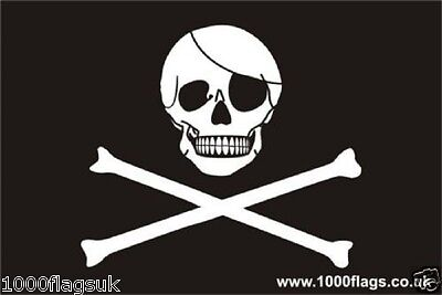 Bandera pirata Craneo y Tibias cruzadas Jolly Rodger Grande 5x3 /' Tamano Z8Z9