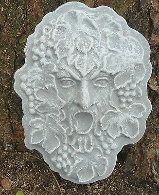 "Green man mould concrete plaster greenman mini birdbath mold 9/"" x 1/"" thick"