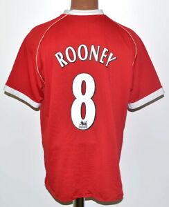 Manchester United 2006/2007 Calcio Casa maglietta jersey Nike #8 Rooney Taglia L