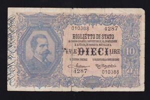 ITALY-10-LIRE-1888-VG