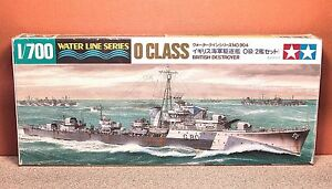 1/700 TAMIYA O CLASS BRITISH DESTROYER MODEL KIT # 31904-600