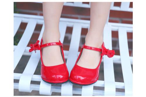 Fashion Kids/' Girls/' High Heel Shoes Bowknot Dress Shoes High Heel Dance Shoes W
