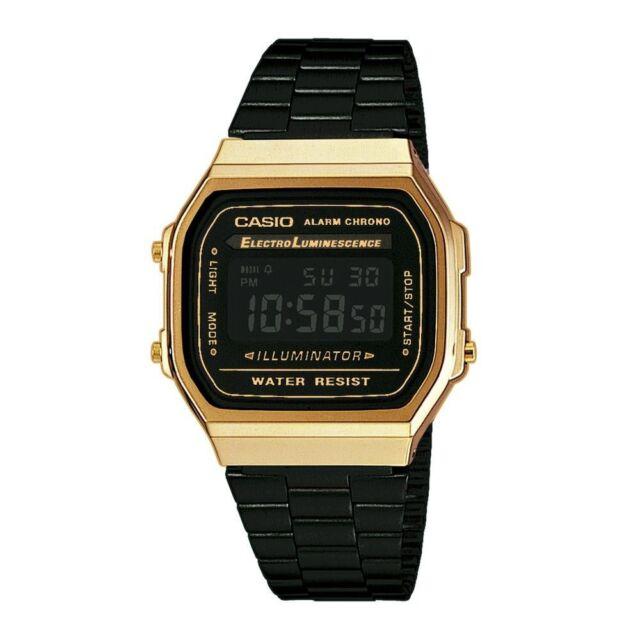 CASIO A168WEGB-1Bef A168WEGB-1B VINTAGE Schwarz & GOLD