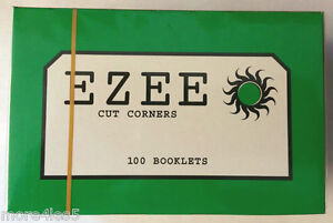 Ezee-Green-Rolling-Paper-Cigarette-Standard-Size-Cut-Corner-100-Booklets-Box-New
