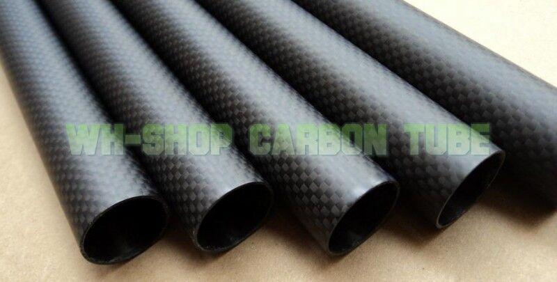 3K Roll Wrapped autobon Fiber  Tube OD 32mm ID 30mm1000mm Length Matt Surface  disponibile
