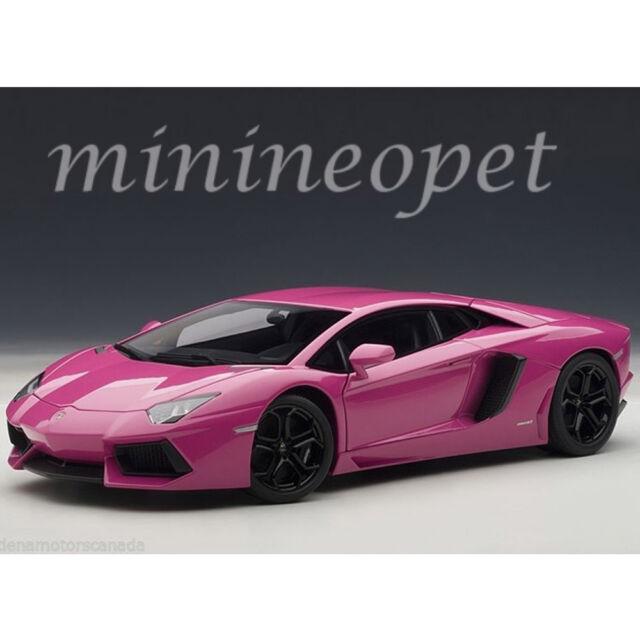 Autoart 74660 Lamborghini Aventador Lp700 4 1 18 Model Car Pink