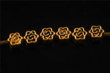 New Antique 10pcs Gold Metal Beads Loose Spacers Jewelry Findings 5mm Charms