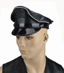 Détails sur Aw0055 offre Biker casquette visiere, Capuchon Chapeau, officier casquette, Leather MUIR CAP afficher le titre d'origine