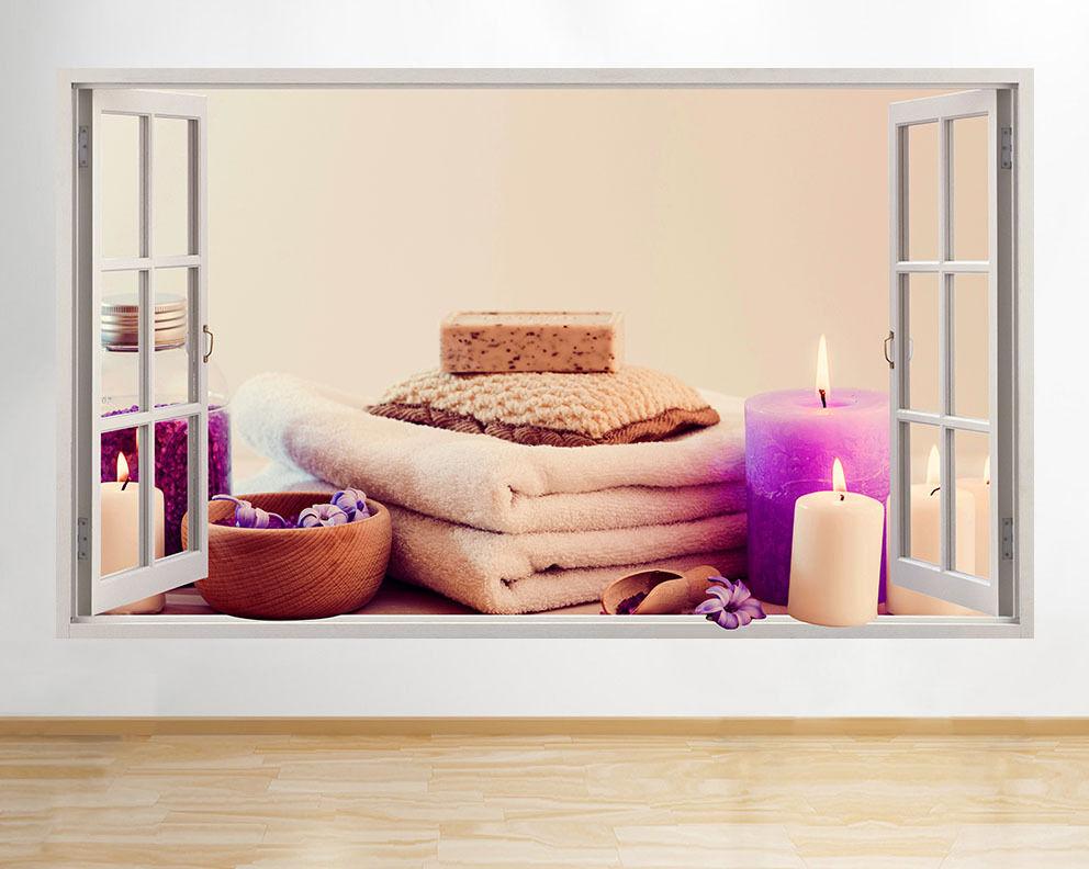 R939 Spa Candele Relax Massage Sapone della fin adesivo da parete camera bambini