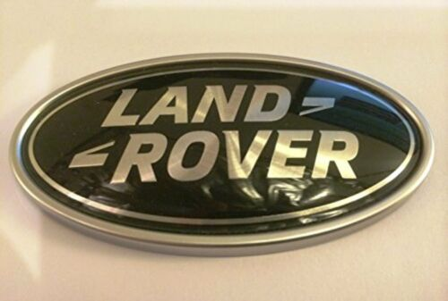 LAND ROVER DEFENDER FRONT GENUINE GRILLE BADGE WIDTH 91MM x HEIGHT 48MM NEW