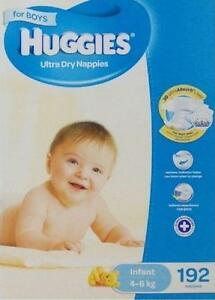 Huggies-Ultra-Dry-Boy-Girls-Nappies-Infant-192-Disposable-Size-4-8kg-JUMBO-PACK