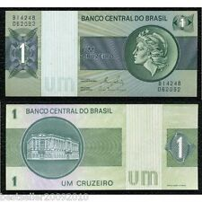 BRAZIL 1 CRUZADOS BEAUTIFUL NOTE UNC # 876