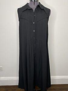 Cue-Black-Pleated-Sleeveless-Dress-Size-8-EUC