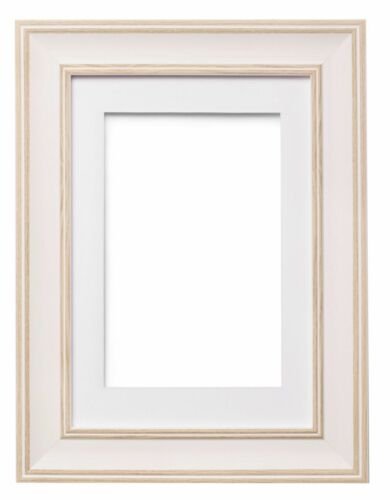 Shabby Chic Picture Frame SC Photo Frame Poster Frame With Mount WHITE OAK EDGE