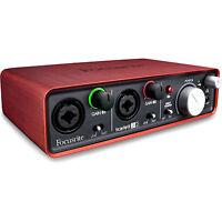 Focusrite Scarlett 2i2 Usb Audio Interface Plug-in Suite 2 I2 Extended Warranty